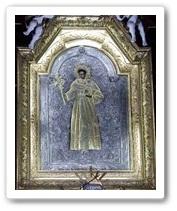 Cudowny obraz św. Antoniego w ołtarzu głównym Łódź - Łagiewniki